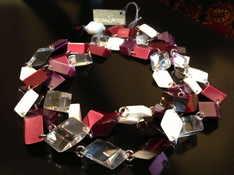 Collana in cristallo acrilico - Silvia Rossi